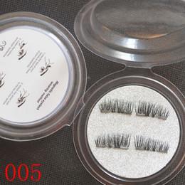 Top False Eyelashes Australia - Top Quality 3D Magnetic False Eyelashes Extension Magnetic Eyelashes Makeup Soft Hair Magnetic Fake Eyelashes with retail packaging 100 lots