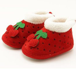 2018 toddler snow shoes Wholesale- Baby Cotton Padded Shoes Infant Boys Girls Boots Toddler Soft Snow Crib Shoes First Walkers Newborn Winter Wa