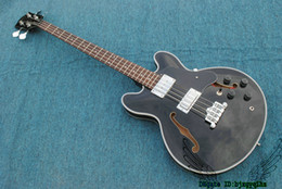 $enCountryForm.capitalKeyWord NZ - Black Bass Guitars 4 Strings Hollow 335 Electric Bass New Arrival Wholesale OEM From China