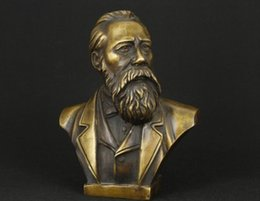 Bust Light Canada - Elaborate Chinese handmade Communist Friedrich Von Engels Bust Statue