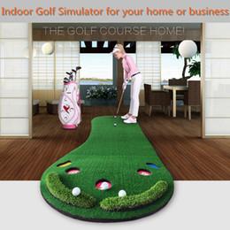 golf practice mats 2019 - Wholesale- brand PGM, golf putting mat, Golf Putter Trainer, Practice Putting Training Mat, SIZE 0.9*3M, easy carried an