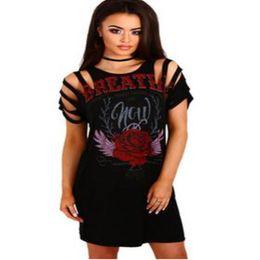 0185f470d850 Imprimir camiseta sexy oco out mulheres dress 2017 manga curta preto  bandage dresswomen casual night club party camiseta vestidos de verão