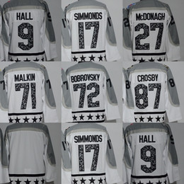 Discount red star jersey - Factory Outlet Men's #71 Malkin #87 Crosby #72 Bobrovsky #17 Simmonds #9 Hall #27 McDonagh Blank White 2017 All-Sta