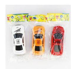 Free Models Cute NZ - Wholesale Children Gift Car Model Mini Car Creative Cute Q Edition Sliding Mini Toys DHL free shipping
