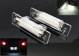 porsche led lights Canada - No Error For Carrera 996 986 Porsche 911 Carrera White LED Number License Plate Light Lamp