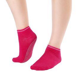 pilates socks grips 2019 - Wholesale-Women's Fitness Pilates Socks Colorful Non Slip Massage Toe Durable Dance Ankle Grip Exercise Printed Let