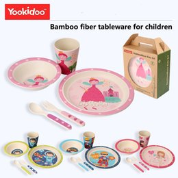5PCs Eco-friendly Bamboo Fider Baby Dinnerware Set Child Tableware Set Perfect for Babies u0026 Toddlers BPA Free  sc 1 st  DHgate.com & Bamboo Dinnerware NZ | Buy New Bamboo Dinnerware Online from Best ...