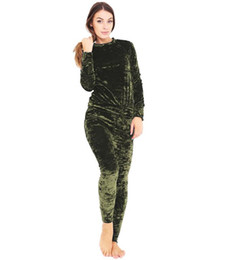 $enCountryForm.capitalKeyWord Canada - Sexy Women Velvet Suits 2018 New Autumn Winter Fashion Women two Piece Sets Tracksuits Warm outdoors sports Suits Lady tops and trousers