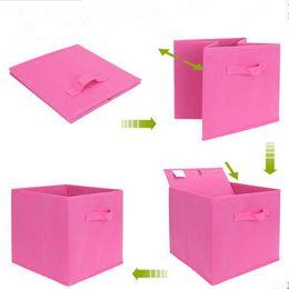 $enCountryForm.capitalKeyWord Canada - New Multifunction mixed Colors Foldable Clothing Organizer Clothing Storage Box For Bra make up organizer Non-Woven Fabric F2017114