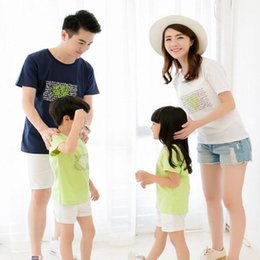 $enCountryForm.capitalKeyWord NZ - Family clothing 2017 Summer Love heart Short-sleeve T-shirt Family Matching Outfits For Mother Daughter And Father Son Clothes