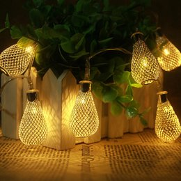 Chinese  2017 Metal yellow Ball LED String Light Garland Christmas Light fairy AA Battery Operation Xmas Wedding Party Room Decoration manufacturers