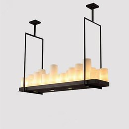 Online Shopping Modern Kevin Reilly Altar Pendant Lamp Chandelier Candle Light Fixture Suspension Rectangular Wrought