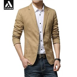 Barato Botões Pretos Da Roupa-Atacado- Men Clothing Slim Fit Black Blazer Jacket Stage Wear Plus Size S 8XL 7XL 6XL 5XL 4XL XXXL S Man Designs Khaki Button Blazer Suit