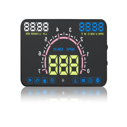 "China E350 5.8"" Car HUD Head Up Display Speedometers Gauge Dashboard Projector Overspeed Fuel Warning Fault Code Detect Clean Via OBD2 II suppliers"