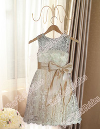 $enCountryForm.capitalKeyWord Canada - Champagne White Ivory lace Wedding Party Formal Flower Girls Dress baby Pageant dresses Custom Made Size 3 4 5 6 7 8 9 10 11 12