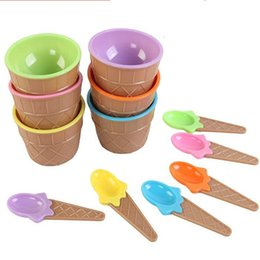 BamBoo Bowls online shopping - Ice Cream Bowl Creative Fashion Multi Function Kids Anti fall bowls High Quality Candy Color Cute Styling Tableware mh J R