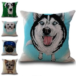 $enCountryForm.capitalKeyWord Canada - Cute Animal Dog Throw Pillow Cases Cushion Cover Pillowcase Linen Cotton Square Pillow Case Pillow Slip Home Sofa Decor 240656