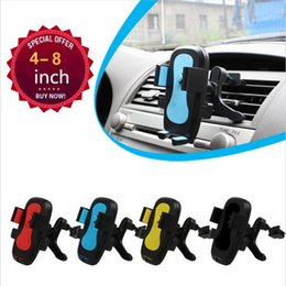 Wholesale Mobile Vent Phone Car Holder for iPhone S Plus ABS Material Air Outlet Adjustable Car Phone Stand Bracket For Samsung S8 Stander