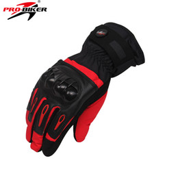 Discount glove pro biker - Wholesale- PRO-BIKER Skiing Motorcycle Waterproof Winter Moto Luvas Motocross Guantes Moto Racing Gloves Motocicleta Gua