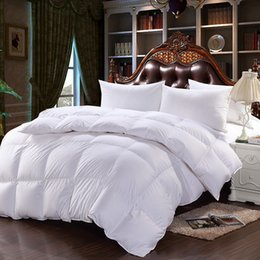 new pure cotton fabric down comforter thicken winter white duck down quilt twin full queen king size 3 colors white down comforter king on sale