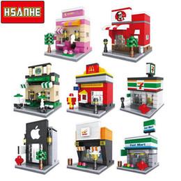 Children eduCational online shopping - HSANHE Brick Mini Building Blocks Architecture Nanoblockse Kids toys Educational Compatible Toys for Children Christmas
