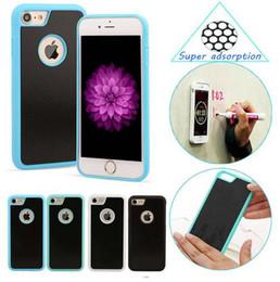 tpu case for nano 2019 - For iPhone 5S 6 7 Plus Anti-Gravity Anti Gravity Selfie Magical Nano Sticky Phone Case Cover For Samsung S5 S6 S7 edge p