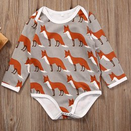 $enCountryForm.capitalKeyWord NZ - baby clothes long sleeve ruffle romper infant little boys girls onesies boutique outfit toddlers porn bodysuit deer jumpsuit kidswear