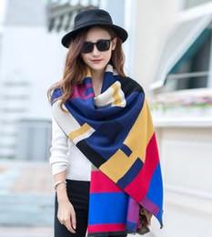 Tassel Scarf Plaid Canada - Creative Fashion Women Tassels Scarf soft Plaid Shawl Tartan Scarf Large Blanket Wrap Scarves for winter and spring