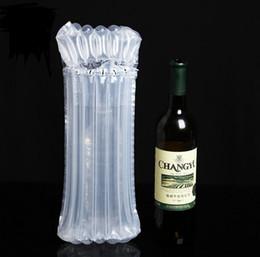 Dhl sf express 32 * 8 cm luftdunnage tasche luftgefüllte schütze wein flasche wrap aufblasbare luftkissensäulen-wickelsäcke mit einer freien pumpe im Angebot