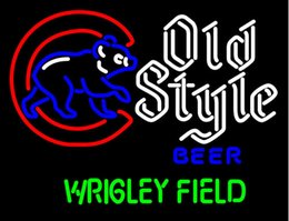 field glasses 2020 - Fashion Hanscraft Old Style Walking Cubby Wrigley Field Real Glass Tubes Beer Bar PubDisplay Neon Sign24x20!!!