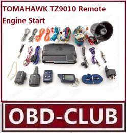 Engine Start Canada - 2017 Promotion Free shipping LCD remote engine start TOMAHAWK TZ9010 2-way car alarm system TOMAHAWK TZ9010 Remote system Russia