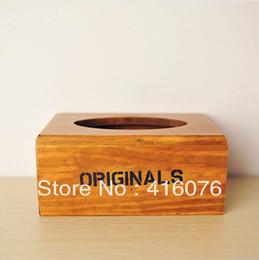 $enCountryForm.capitalKeyWord Canada - Wholesale- Vintage Style Wooden Tissue Box Desktop Napkin Holder Eco-friendly Vintage Style Creative Home Decoration S2001