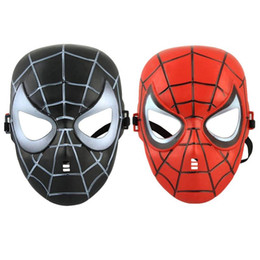 kids mask making 2019 - Spider Mask Halloween Costume Theater Prop Novelty Make Up Toy for Kids Boys Favorite masquerade masks costume party Cos