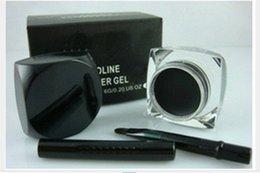 Gel Eyes Liner Australia - FREE SHIPPING!high quality makeup waterproof eyeliner gel,makeup eye liner 5.5g(100PCS LOT)