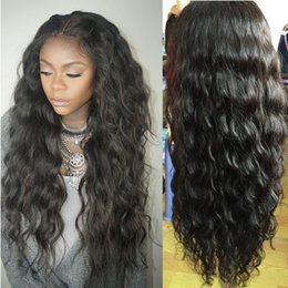 French Lace Top Wigs Wavy NZ - Water Wave 4*4 Silk Top Glueless Full Lace Wig Natural Hairline Brazilian Wet Wavy Silk Base Lace Front Wigs With Baby Hair