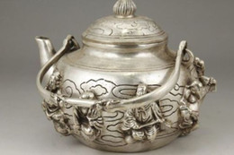 $enCountryForm.capitalKeyWord Canada - Exquisite Chinese Old White Copper Handwork Eight Immortal Portable Teapot