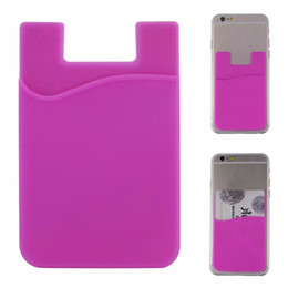 $enCountryForm.capitalKeyWord Australia - wholesale Fashion Adhesive Sticker Back Cover Card Holder Case Pouch For Cell Phone colorful card holde