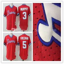 1ba55e5d8 ... Mens Atlanta Braves Dale Murphy Freddie Freeman Baseball Jerseys  Mitchell Ness Red 1980 Authentic Cooperstown Collection Baseball Men Short  Throwback ...