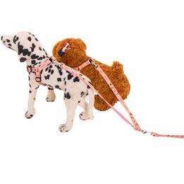 Led Dog Collar Large Canada - Hipidog Dog Dual Double Nylon Safety Harness Leash Lead 2-in-1 Set Small Large Dog Training Walking Running Dog Leash for 2 Dogs