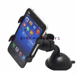 double suction cups UK - Universal 360 Degree Rotatable Suction Cup Stand Holder Car Mount Holder Double Clip Bracket for iphone 7 Samsung S7 LG HTC Cell phone