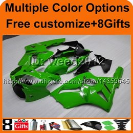 $enCountryForm.capitalKeyWord Canada - 8Gifts+Tank cover green gloss ABS articlw ZX12R 2002 2003 2004 motorcycle fairing for Kawasaki Ninja
