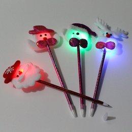 Venta al por mayor de Bolígrafo de Navidad bolígrafo electrónico creativo LED luminoso bolígrafo de Navidad artículos de papelería niños regalo de Navidad