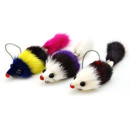 $enCountryForm.capitalKeyWord UK - Original New Brand Lovely Fluffy Mouselet Keychain Women Genuine Fur Pompom Squirrel Key chain Toy Keyring Bag Charm Doll Jewelry Gifts