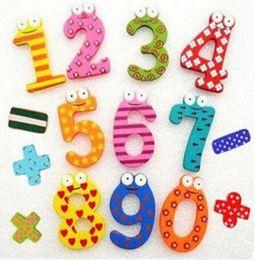 Memo Magnet NZ - Children's Education DIY Toy digital colour wooden fridge figures magnets Memo Sticker,