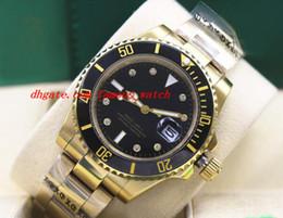 $enCountryForm.capitalKeyWord Australia - Luxury Wristwatch 18K Gold Black Ceramic Bezel Steel Bracelet Diamond Watch Mens 40MM Mechanical Men Watches Top Quality New Arrival