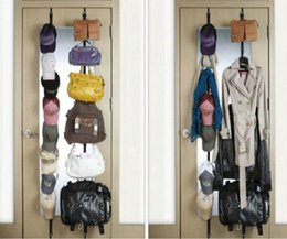 Wholesale  Over Door Straps Hanger 8 Hooks Adjustable Hat Bag Clothes Coat  Rack Organizer
