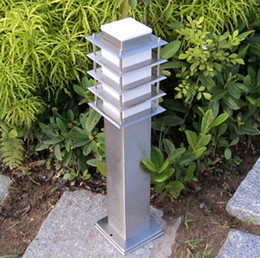 garden pillars. 110V 220V 12V 24V Landscape Lawn Sward Garden Stainless Outdoor Square Pillar Post Light Bollard Lamp LLFA Pillars Clearance