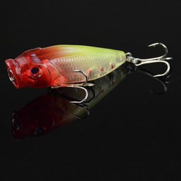 Set Lures Canada - 6PCS Plastic Popper Fishing Lures Sets 5 Colors Water Top Series Soft Worms Fishing Baits of Fishing Accessories