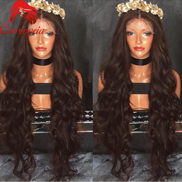 $enCountryForm.capitalKeyWord Canada - Body Wave Lace Front Wig For Black Women Middle Part Glueless Full Lace Wigs 100%Virgin Human Hair Brazilian 8A Grade Hot Sale