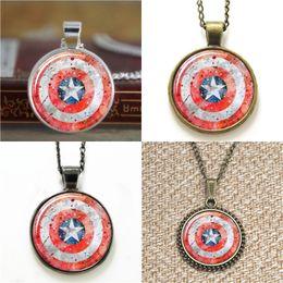 Superhero ShieldS online shopping - 10pcs Superhero Captain shield Art Glass Photo Necklace keyring bookmark cufflink earring bracelet